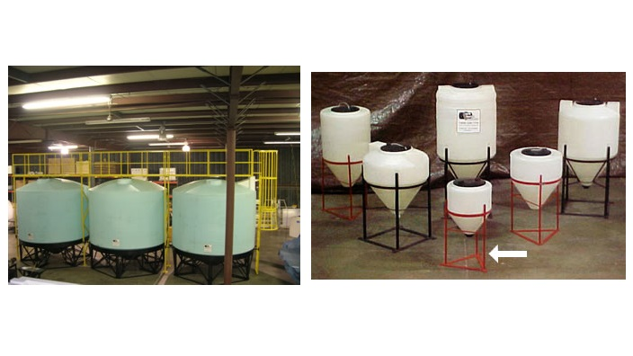 Custom Plastic Tank and Mixer Stands