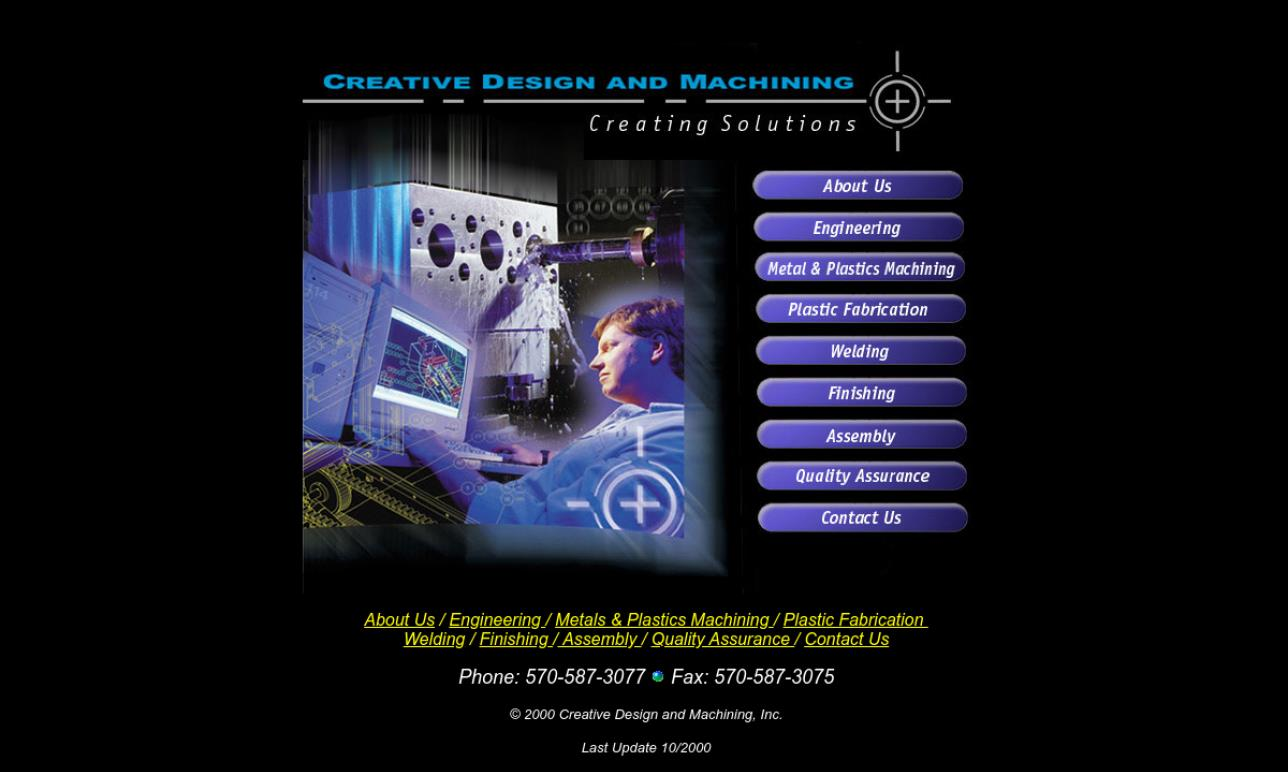 Creative Design and Machining, Inc.